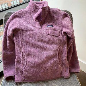 Purple Patagonia fleece jacket